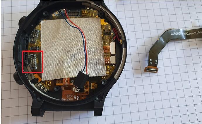 Kospet Prime 2 disassembled CAM Connector