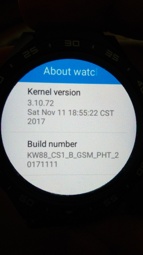 KW 88 screen turned up to down - KingWear KW88/KW98 - Full Android